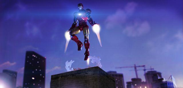 avengers Iron Man Landing digital artwork