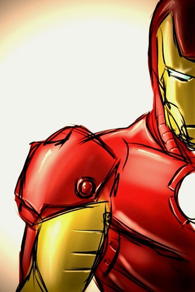 marvel Iron Man Sketch digital artwork