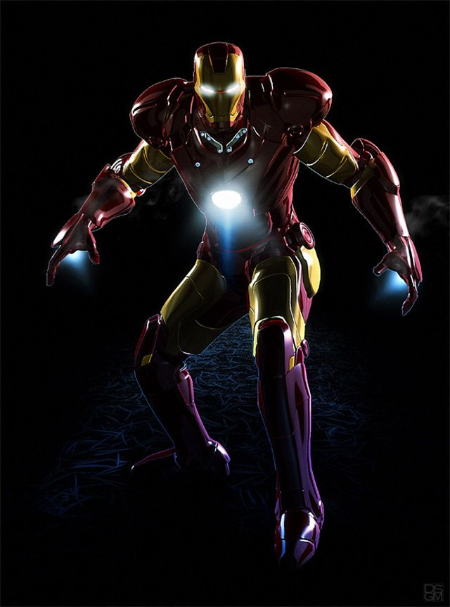 marvel Iconic Iron Man digital artwork