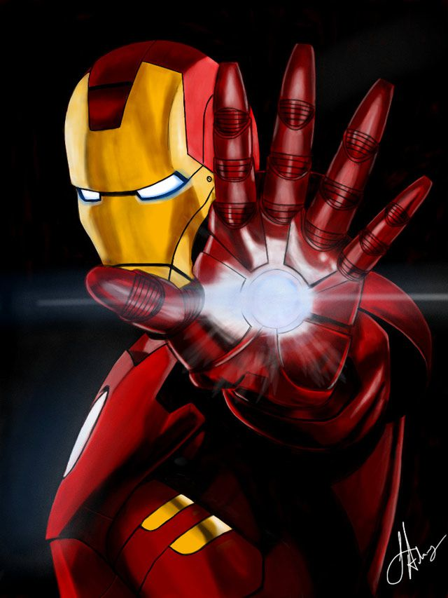 marvel Iron Man  digital artwork
