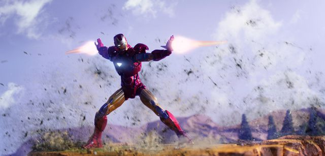 avengers Iron Man Land Combat digital artwork