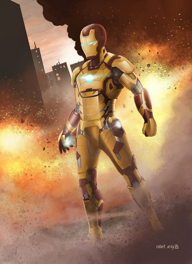 marvel digital Fanart Iron Man artwork