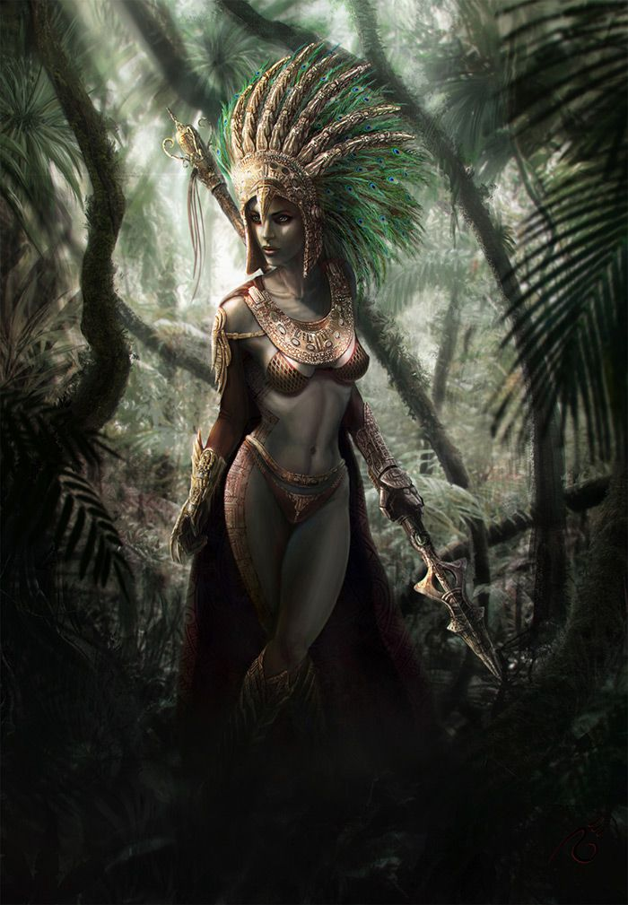 Aztec Warrior Digital Gallery
