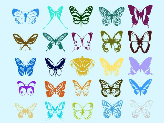 photoshop custom shapes Butterfly
