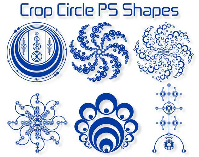 photoshop custom shapes Crop Circle