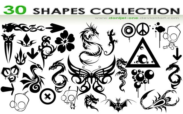 photoshop custom shapes Shape Collection