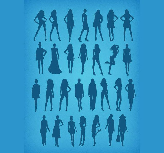 photoshop custom shapes Fashion Silhouettes