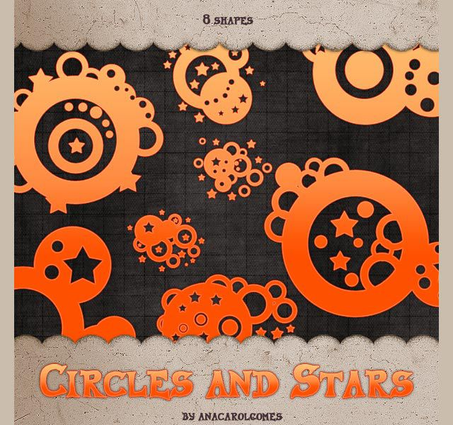 photoshop custom shapes Circles and Stars