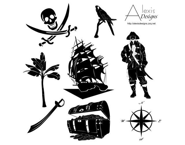 photoshop custom shape Pirate