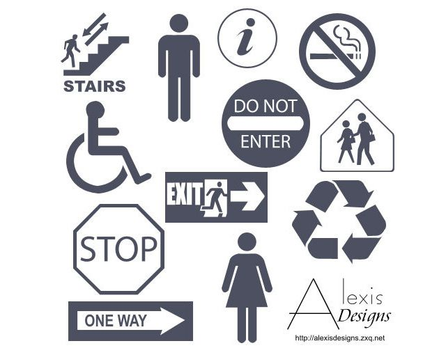 photoshop custom shape Public Signs