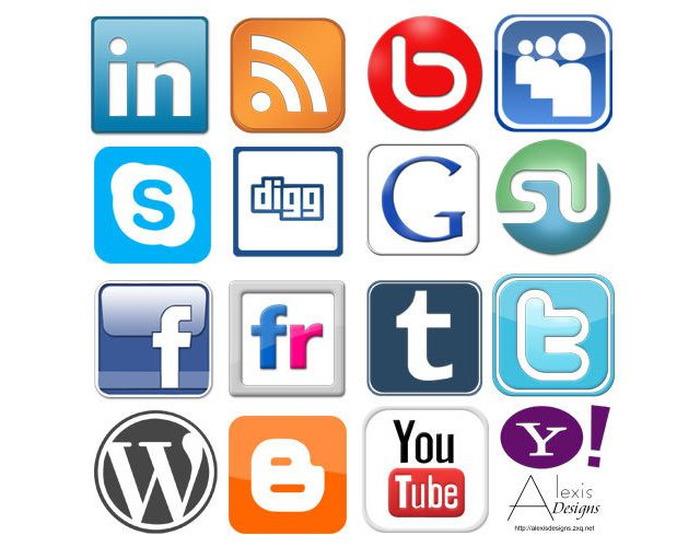 photoshop custom shape Social Networking Logo