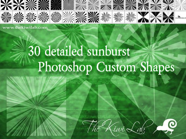 photoshop custom shape Sunburst