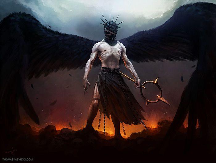 Картинка падший ангел парень