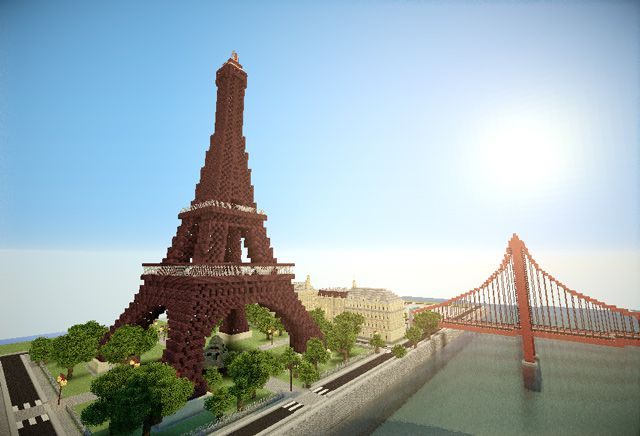 Welcome to Paris minecraft art