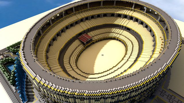 Minecraft Colluseum Inspired Art