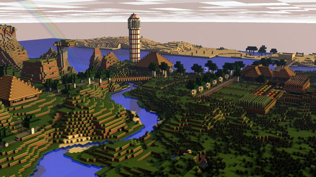 Landscape minecraft art