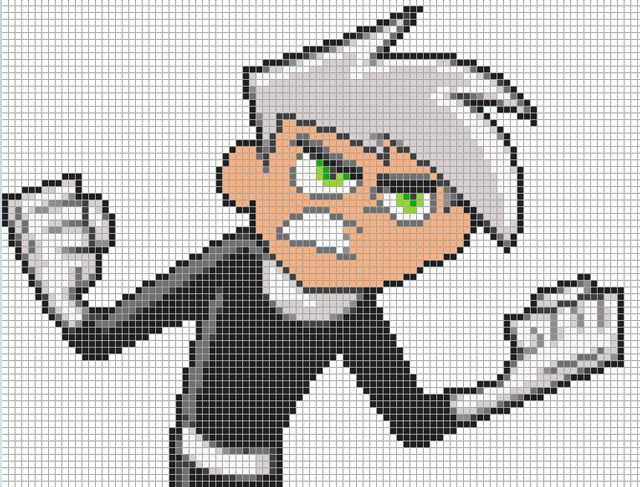 Minecraft Inspired Danny Phantom Art