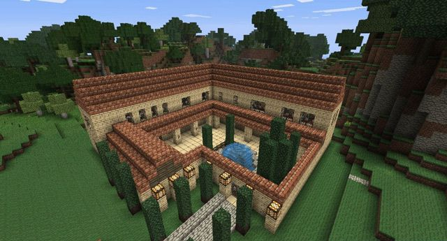 Roman Villa Minecraft Inspired Art