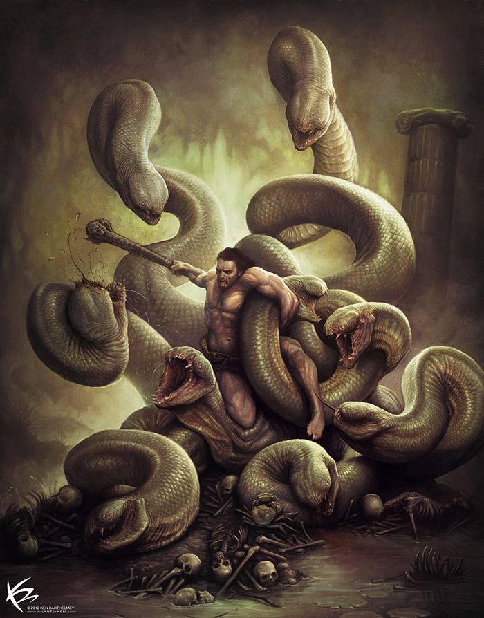 Hercules vs Hydra Digital Gallery