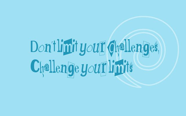 Challenge motivational wallpaper