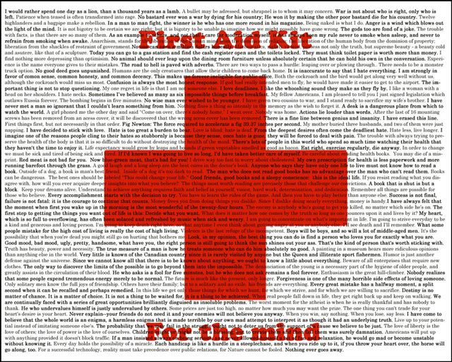 motivational wallpaper First Aid Kit for the Mind