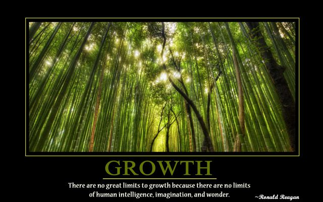 Growth motivational wallpaper