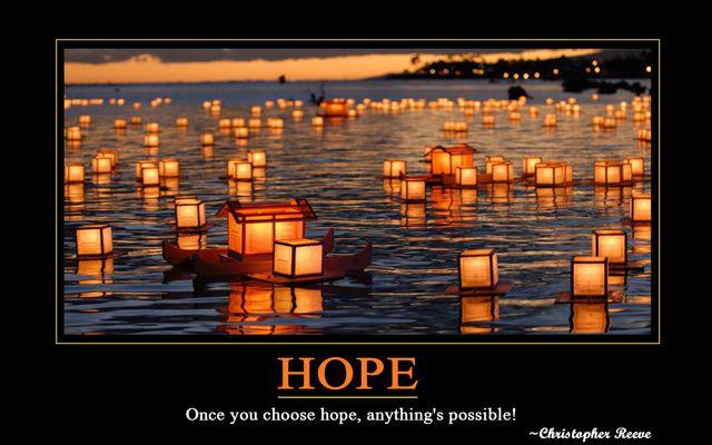 Hope motivational wallpaper