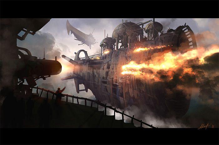 Steampunk Ships Digital Gallery