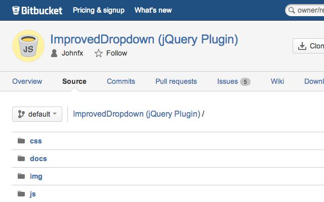 bitbucket website opensource projects js javascript