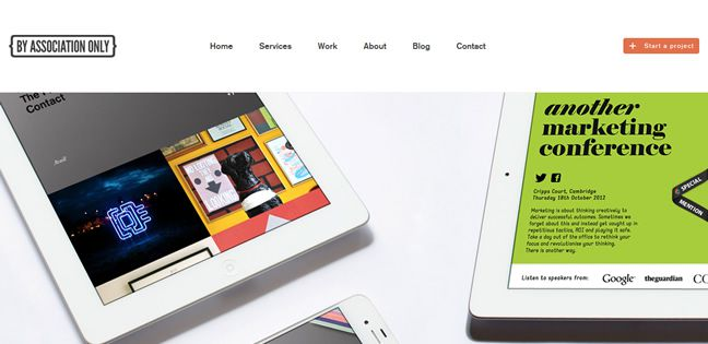 clean web design By Association Only Design Company screenshot inspiration