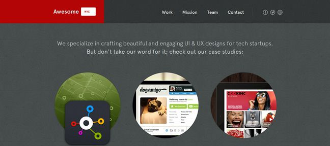 clean Awesome Design Company screenshot inspiration