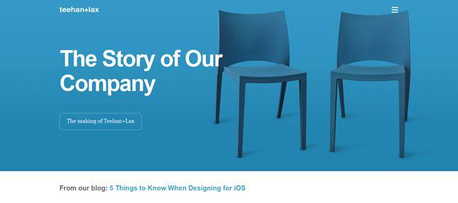 clean design Teehan+Lax Design Company screenshot inspiration