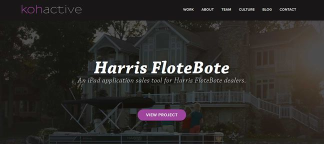 clean design Kohactive Design Company screenshot inspiration
