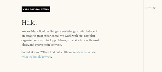 clean design Mark Boulton Design Design Company screenshot inspiration