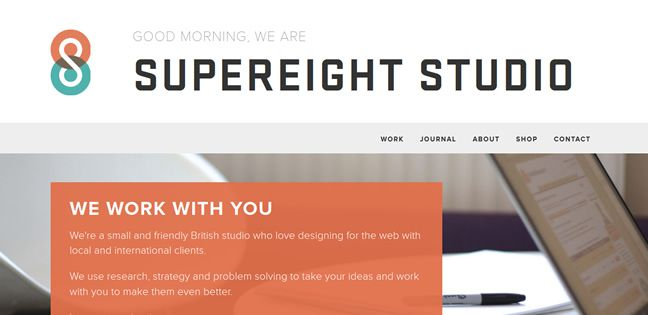 clean design Supereight Studio Design Company screenshot inspiration