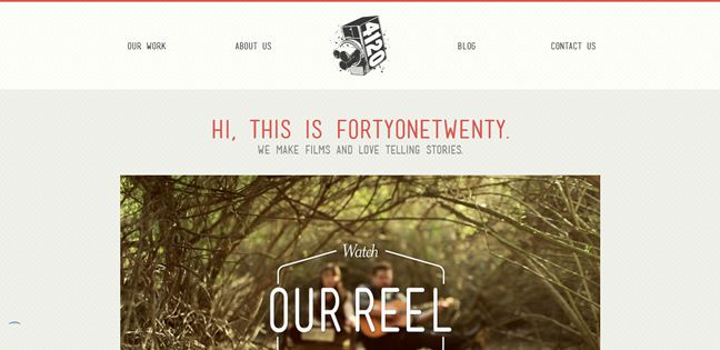 clean agency design FortyOneTwenty Inc. Design Company screenshot inspiration