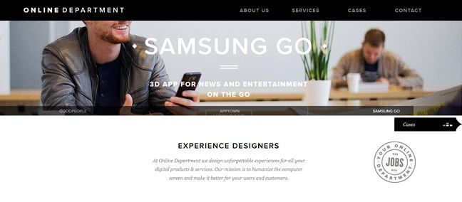 clean agency design Online Department Design Company