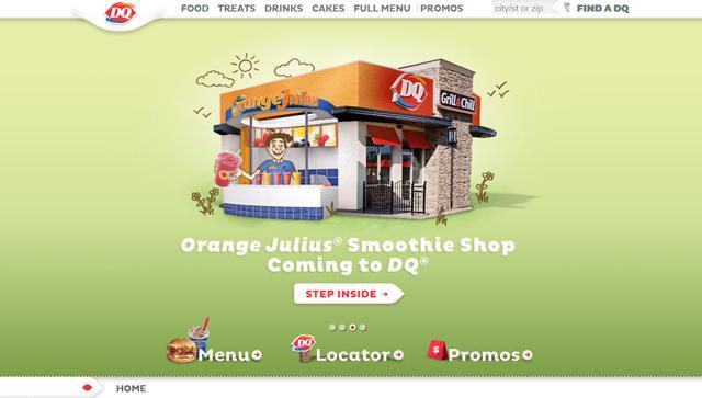 Dairy Queen Homepage