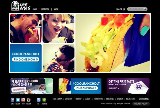 Taco Bell Homepage
