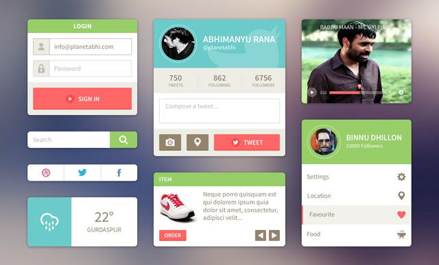 free UI Kit gui templates