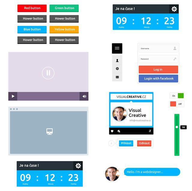 Flat UI Kit gui templates
