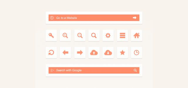 free Web Browser UI Elements