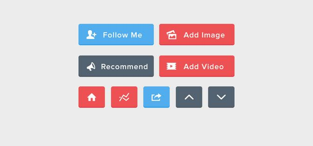 free Flat UI Buttons