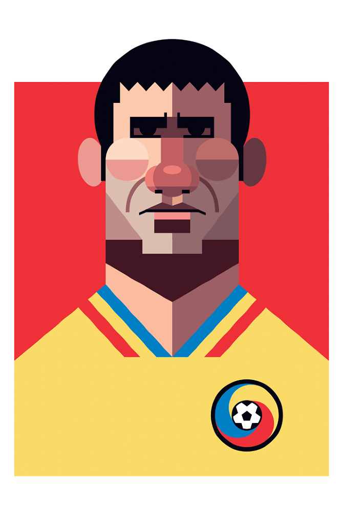 illustration playmakers football hagi