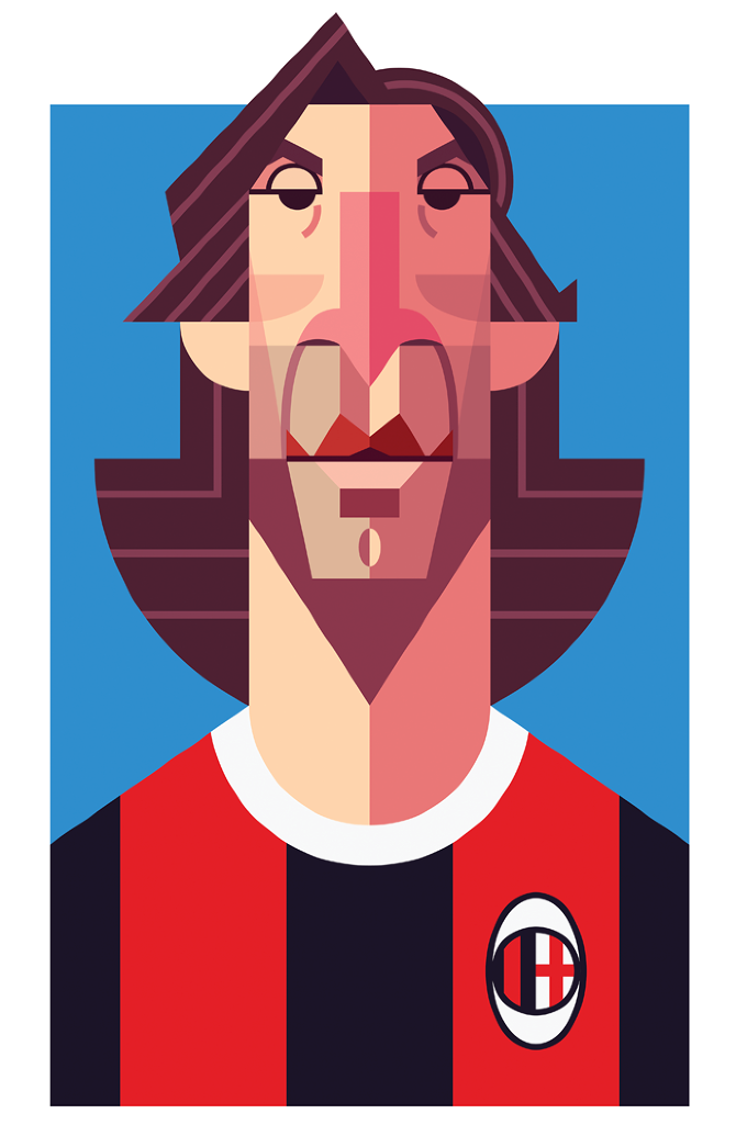 Famous Football Playmaker Illustration