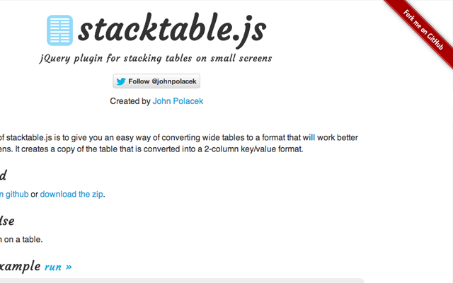 Stackable.js javascript open source github webpage