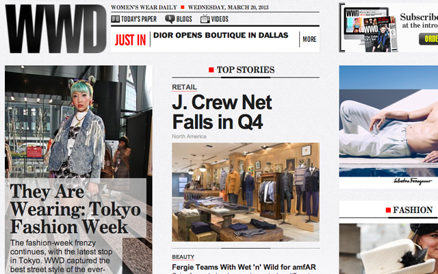 wwd homepage stagger thumbnail posts columns design inspiration