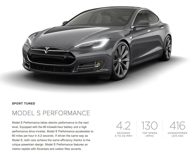 Model S Screenshot