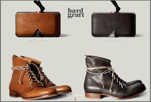 Hard Graft - Washed-Out Color Schemes Web Inspiration