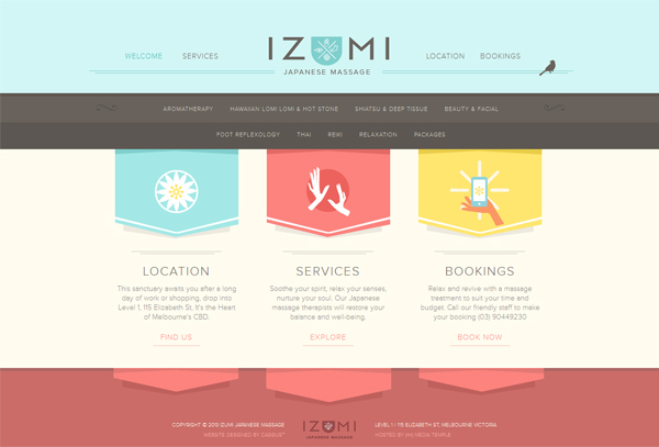 Izumi Massage - Washed Out/ Pastel Web Inspiration